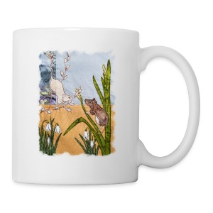 Mice and Pussy Willows Design - Mug