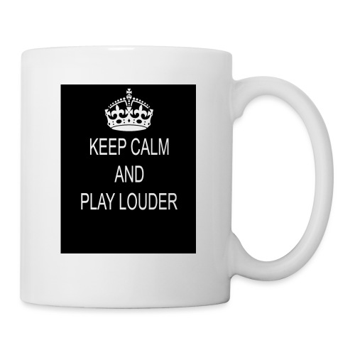 keep calm play loud - Mug blanc