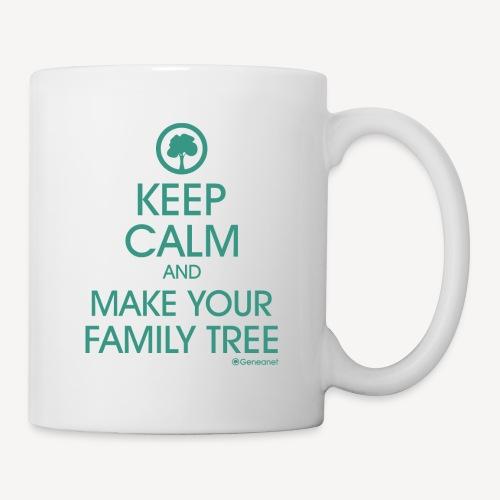 keep calm généalogie - Mug blanc