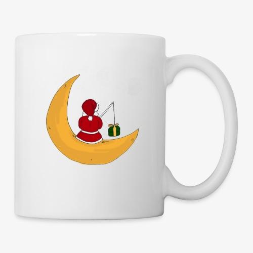 Santa sur un croissant de lune - Mug