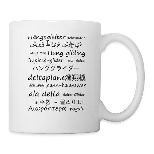 deltaplane en plusieurs langues - Mug blanc