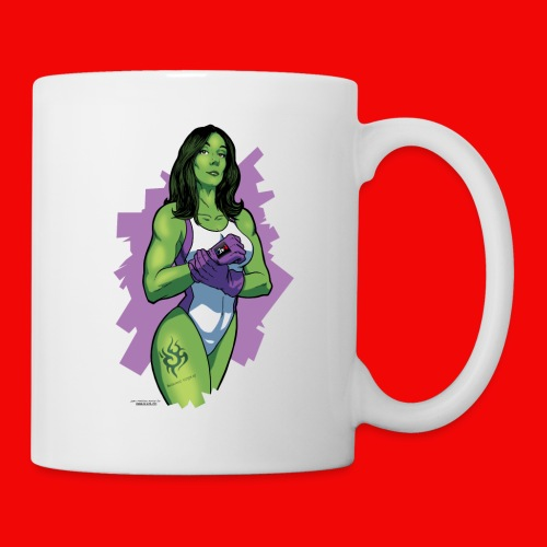 miss hulk GEEK WORLD T SHIRT png - Mug blanc
