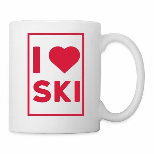 I love ski - Mug blanc
