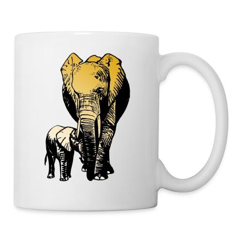 Elefanten - Mutterliebe - Tasse