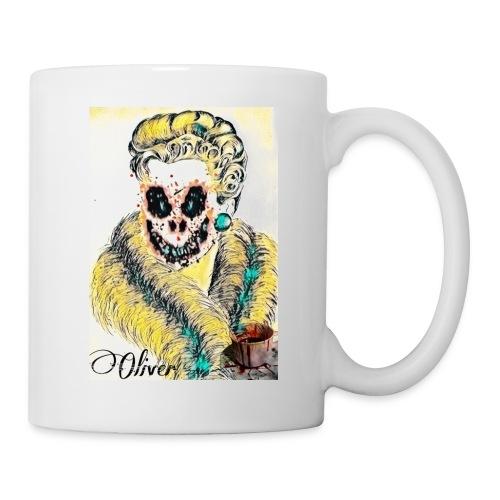 Portrait Femme affrayante - Mug blanc