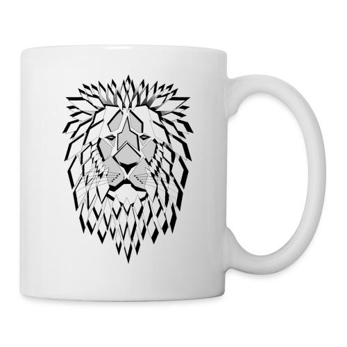 lion losanges fier sauvage né pour être libre - Mug blanc