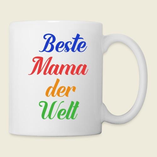Beste Mama der Welt schön bunt - Tasse