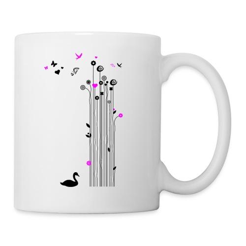 Frühling Schwan Blumen Schmetterlinge Swan - Mug