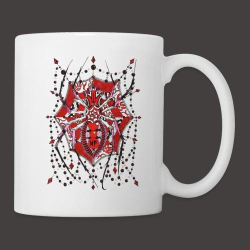 Spider Dentelle Red - Mug blanc
