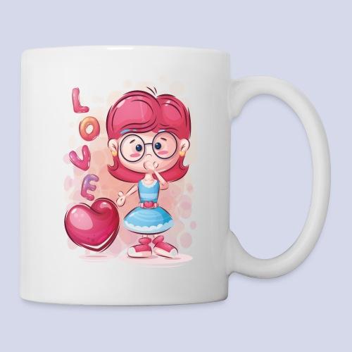 Funny and lovely girl cartoon design - Mug
