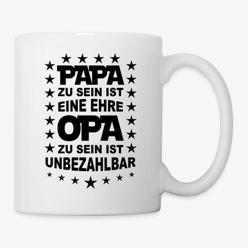 46 Papa zu sein ist eine Ehre OPA unbezahlbar - Tasse