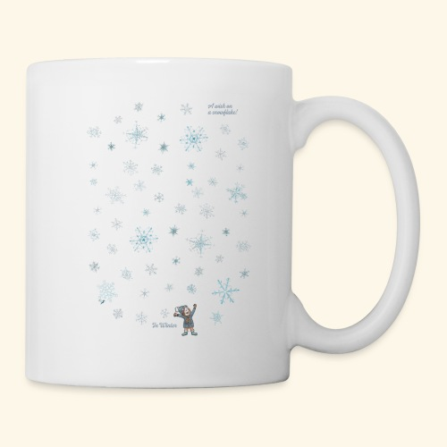 A wish on a snowflake - Winter - Hochformat - Tasse