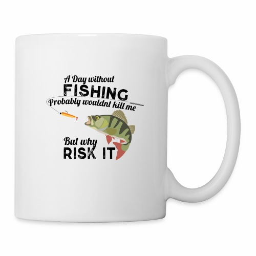 A Day without Fishing Angeln Fishyworm Bass Barsch - Tasse