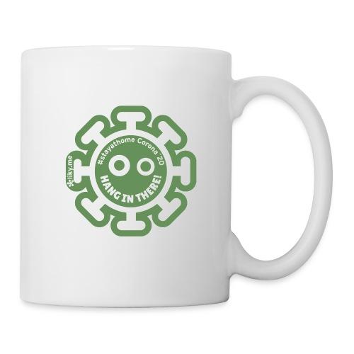 Corona Virus #stayathome green - Taza
