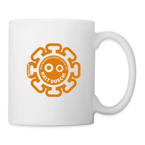 Corona Virus #WirBleibenZuhause orange - Taza