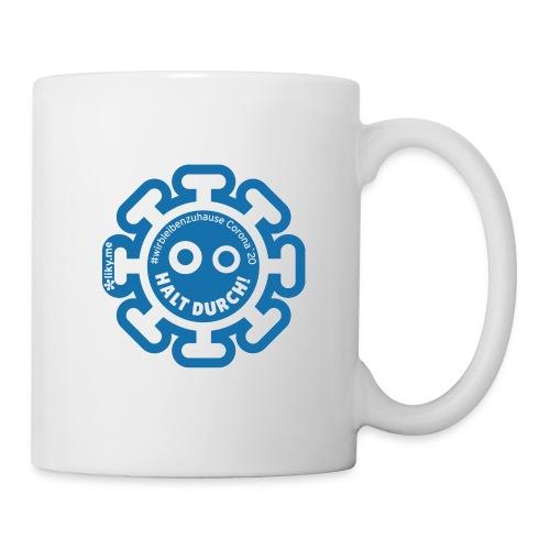 Corona Virus #WirBleibenZuhause blau - Taza