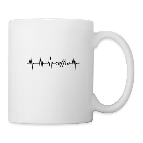 coffee Herzlinie - mein Herz schlägt für Kaffee - Tasse