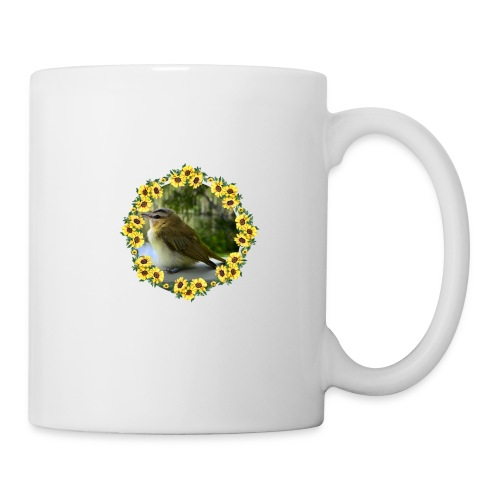 Vögelchen im Blumenkranz - Tasse