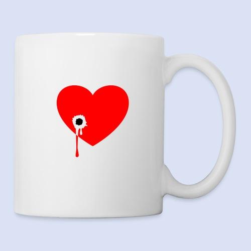 Cœur troué - Mug blanc