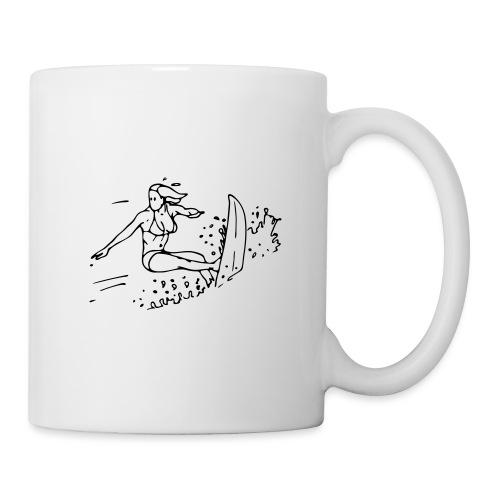 Surfeuse - Mug blanc