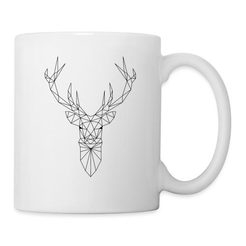 Hirschkopf mit Geweih im Triangel-Design - Tasse