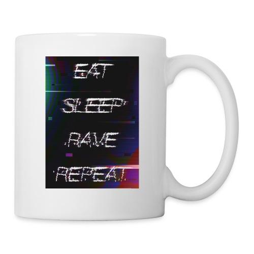 Eat Sleep Rave Repeat 1 - Mug blanc