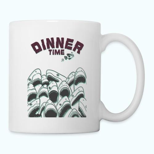 Dinner Time Funny Retro 90s Shark Shirt - Mug