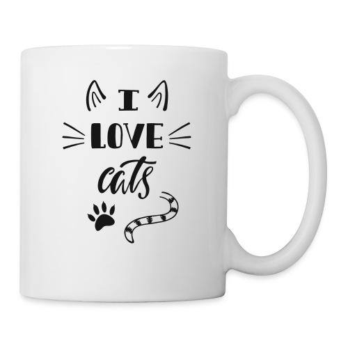 I love cats - Tasse