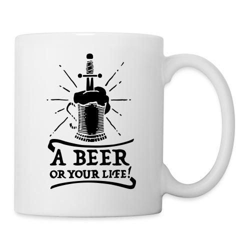 la bière ou la vie - Mug blanc