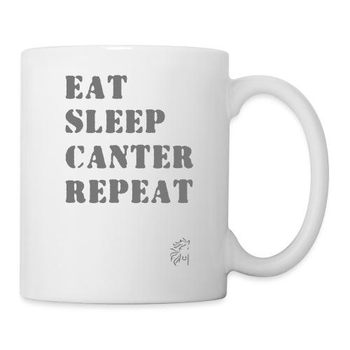 Eat Sleep Canter Repeat - Pferd Reiten VECTOR - Tasse