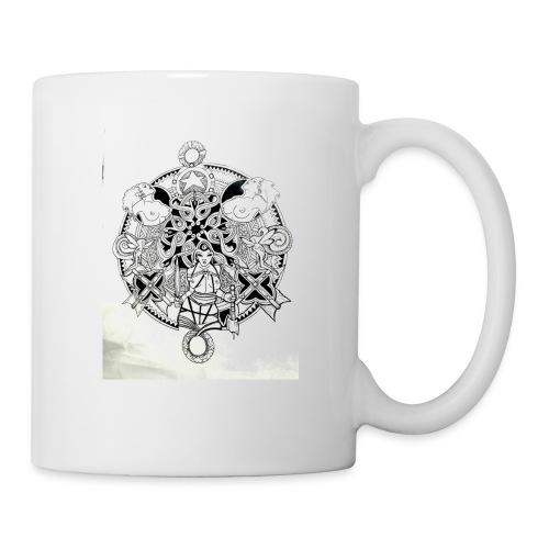 guerriere celtique entrelacs bretagne femme - Mug blanc