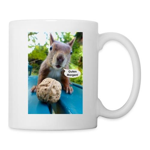 Guten-Morgen-Gruß vom Eichhörnchen - Tasse