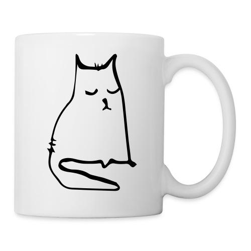sad cat - Tasse