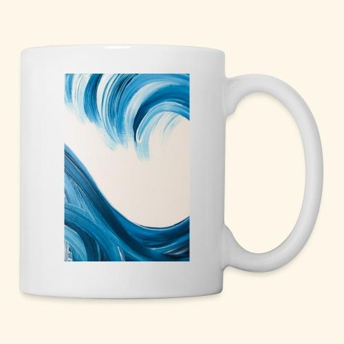 Große Welle hochformat - Tasse
