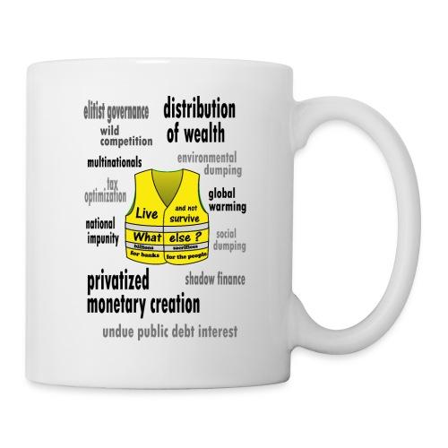 gilets jaunes projet de société durable - Mug blanc