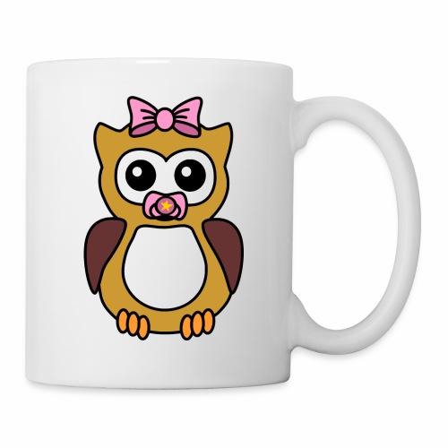 Eule Mädchen Schnuller - Tasse