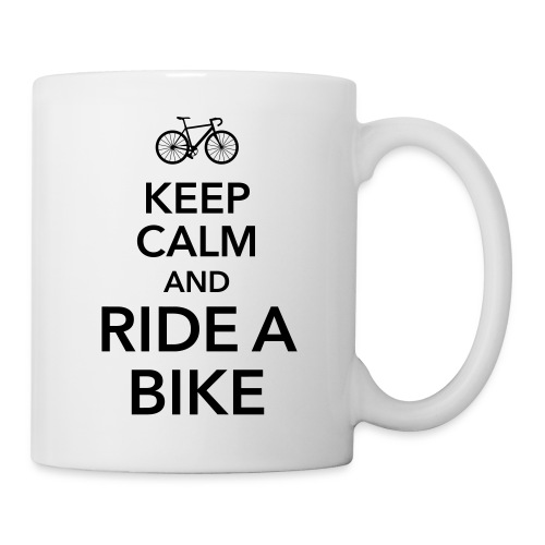 keep calm and ride a bike Fahrrad Sattel Drahtesel - Mug