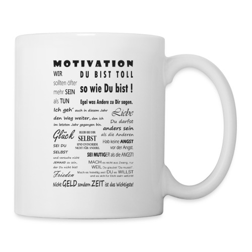 Motivation Spruch Typografie Sprüche Text Poster - Tasse