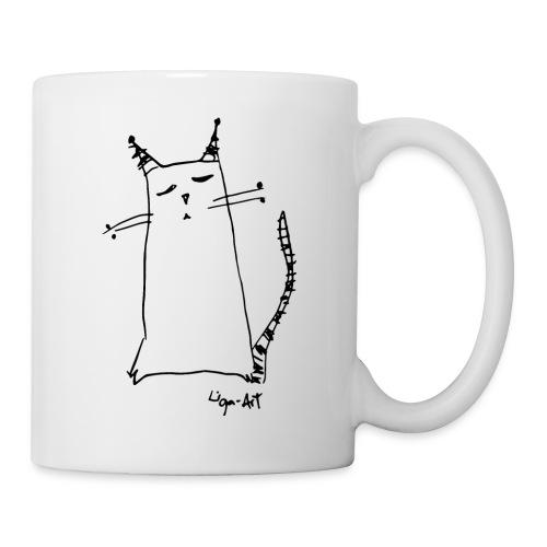 Katze in Gedanken - Tasse