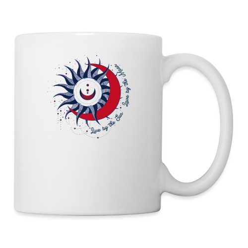 Sonne Mond Design Live by the sun Love by the moon - Tasse