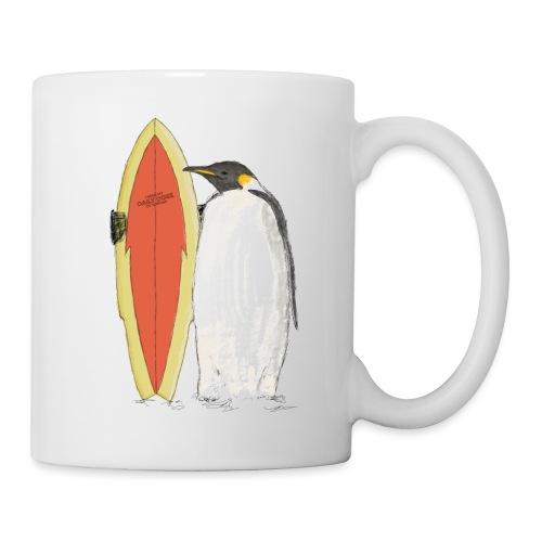 Ein Pinguin mit Surfboard - Tasse