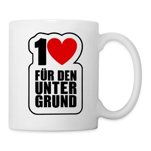 1 Herz für den Untergrund - Original Logo - Tasse