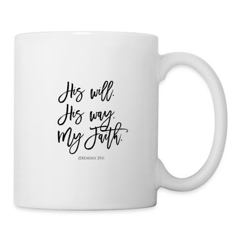 Jeremiah 29:11 Black Text - Mug