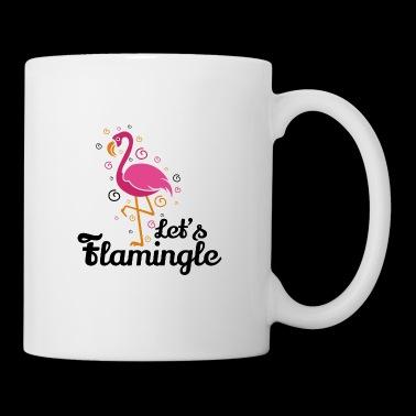 Låt oss flamingle roliga Flamingo T-shirt present - Mugg