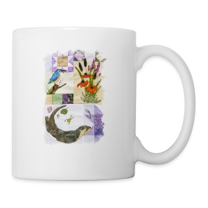 Lilac Otter and Kingfisher Design - Mug