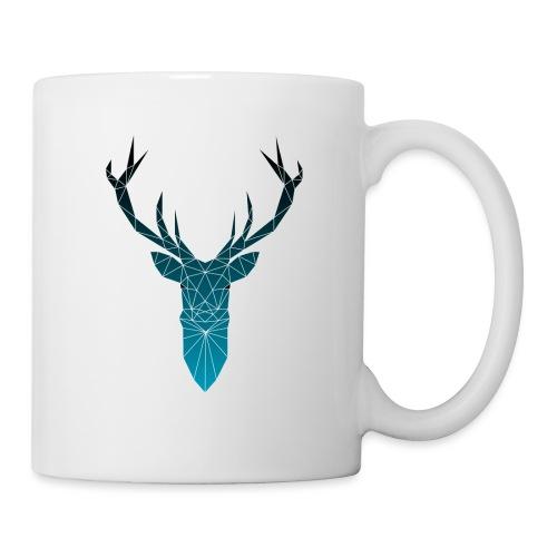 Hirsch blau im Triangel-Design - Tasse