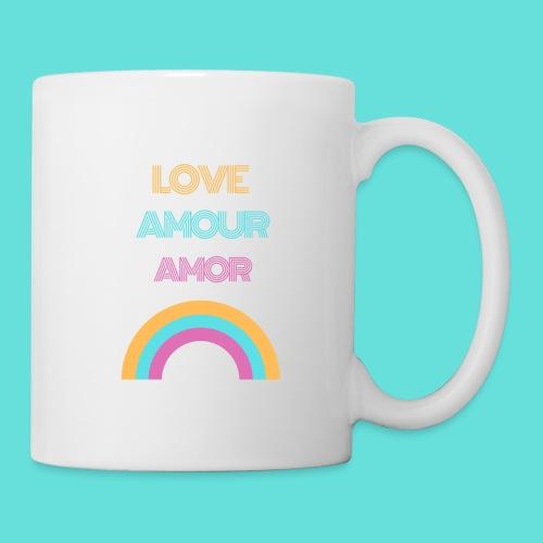 LOVE AMOUR AMOR - Mug blanc