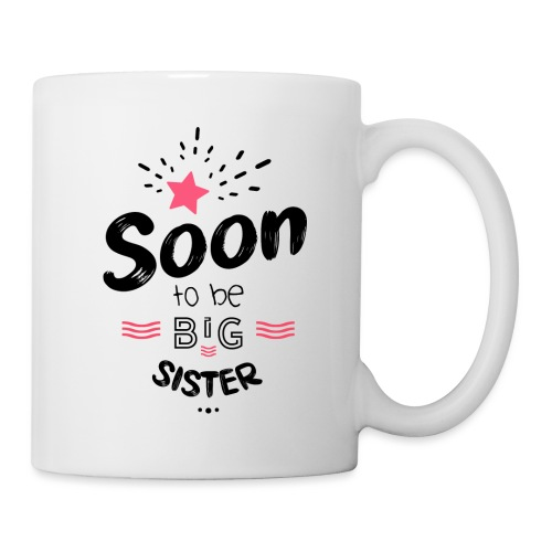 Soon to be big sister - Mug blanc