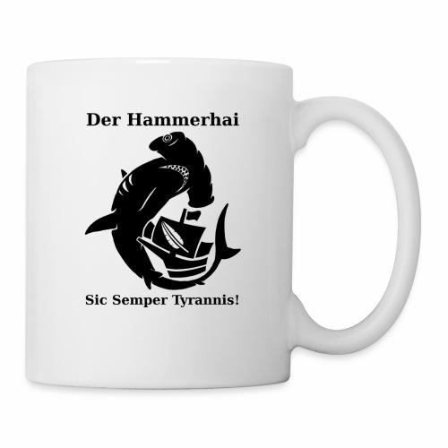 hammerhai schwarz - Tasse