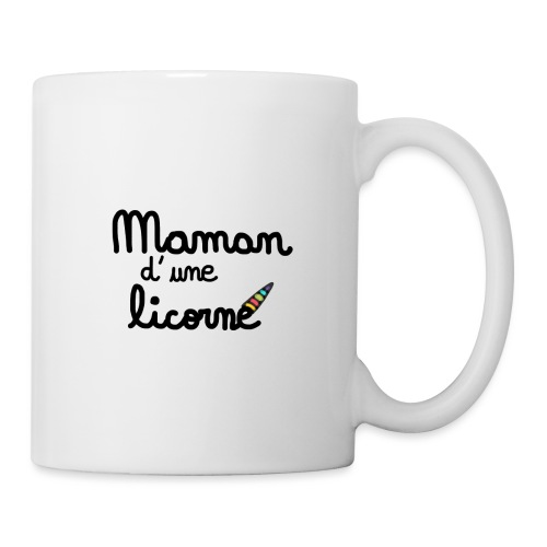 maman d une licorne - Mug blanc